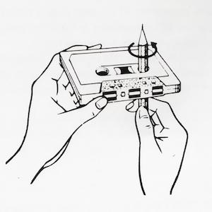 MC mit Stift spulen